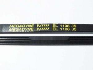 52872 РЕМЕНЬ ПРИВОДНОЙ 1108 J5 1060 мм MEGADYNE зам. 1.11.012.05