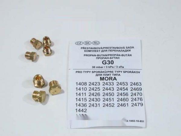850628 НАБОР ФОРСУНОК (БАЛОННЫЙ ГАЗ) (0.50+0.65x2+0.81)М6+(0.76+0.82+0.85)М8 зам. 240761